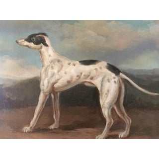 """""""Grady"""" Greyhound Portrait Oil Painting Preview"""