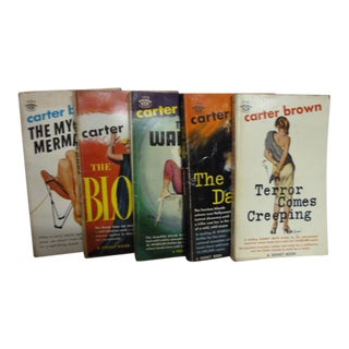 Carter Brown Vintage Mystery Books - Set of 5