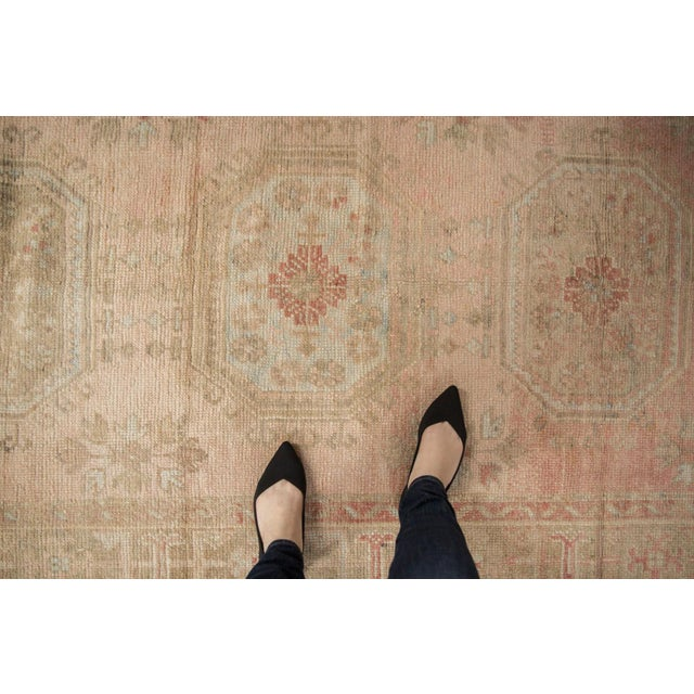 """Islamic Vintage Distressed Oushak Rug Runner - 4'8"""" X 11'5"""" For Sale - Image 3 of 13"""