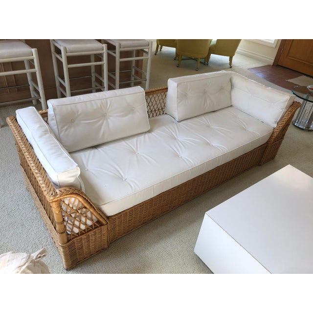 The McGuire Company Wicker Couch For Sale In San Diego - Image 6 of 6