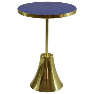 Z-II-I Contemporary Brass Mosaic Side Table, Flow Collection For Sale