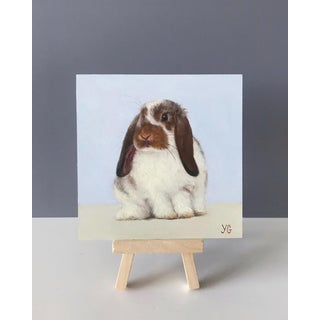 Realist Original Oil Bunny Painting, Stella Preview