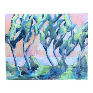 """""""Road to Sirmione 1"""" Acrylic on Canvas Painting by Alice Miles For Sale"""