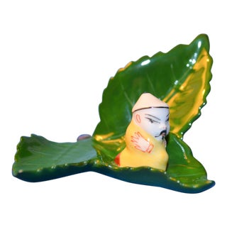 Herend Mandarin on Leaf Miniture Figurine