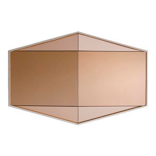 Contemporary Gem Mirror Peach For Sale