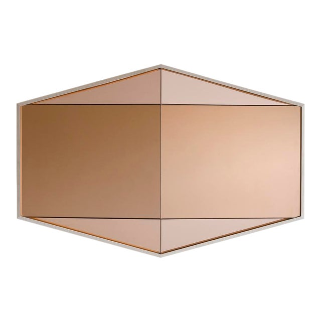 Contemporary Gem Mirror Peach For Sale