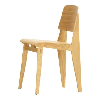 "Jean Prouvé ""Chaise Tout Bois"" Chair in Natural Oak for Vitra For Sale"