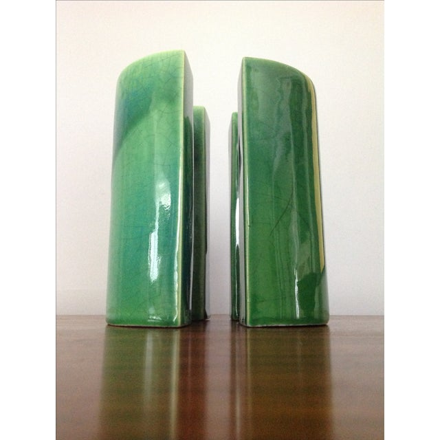Raymor Green Ceramic Bookends - A Pair - Image 3 of 8