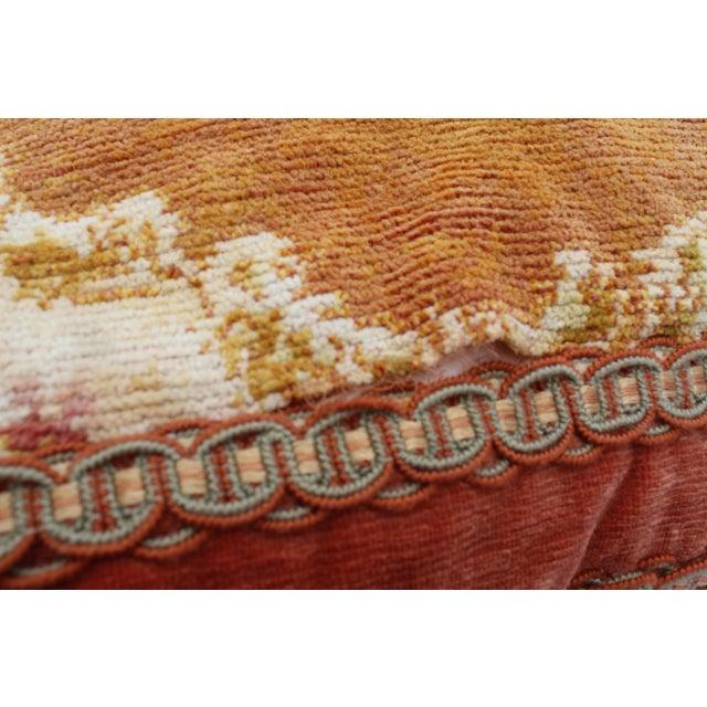 Late 19th Century Burnt Orange Silk Tassel Pillow For Sale - Image 5 of 7