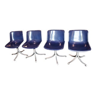 Mid Century Osvaldo Borsani for Techno Blue Sm203 Chairs - Set of 4 For Sale