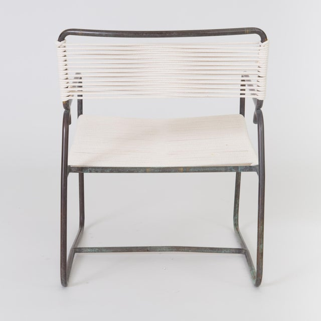 Single Walter Lamb Patio Lounge Chair and Ottoman Set For Sale - Image 10 of 13