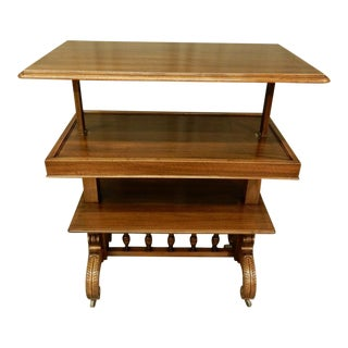 English 19th Century Adjustable Serving Table