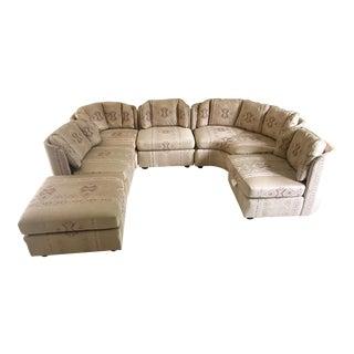 1980s Vintage Henredon Modular Sculptural Sectional Sofa For Sale