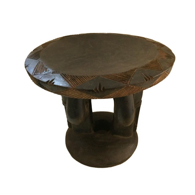 """African Superb African Baga Low Stool Guinea 12"""" H For Sale - Image 3 of 12"""