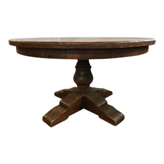 Reclaimed Round Wood Dining Table