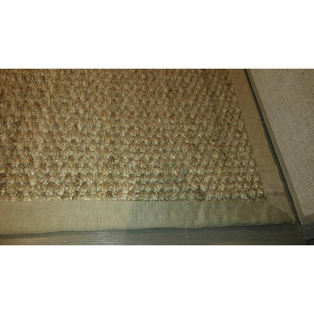 Contemporary Jute Are Rug With Linen Binding - 13′ × 15′7″ For Sale - Image 3 of 7