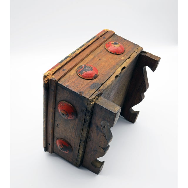 Black 19th Century Antique Afghan Wood Spice Box For Sale - Image 8 of 13