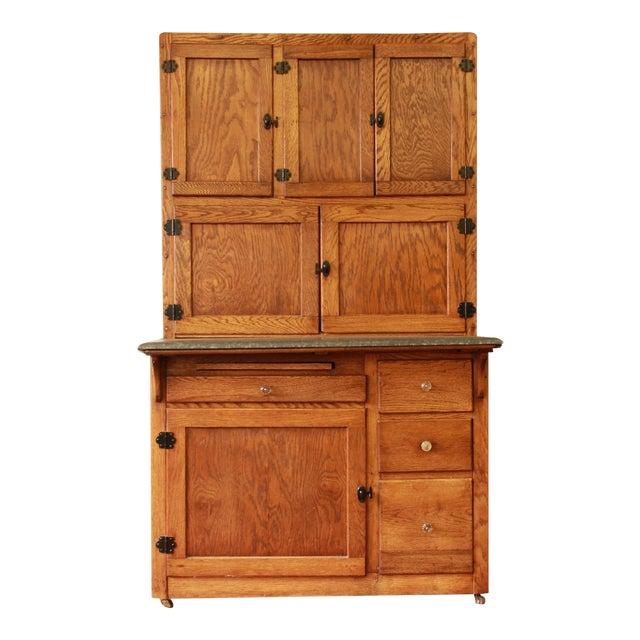 Antique Oak Hoosier Cabinet - Image 1 of 11
