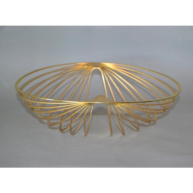 Mid-Century Modern Modern Sculptural Golden Brass Rocking Bowl, Eight Mood, Sweden For Sale - Image 3 of 11