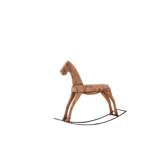 Brown Wood Rocking Horse - Image 3 of 3