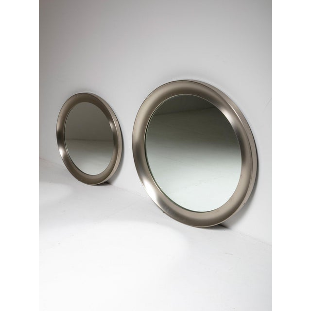 """Pair of """"Narcisso"""" Wall Mirrors by Sergio Mazza for Artemide For Sale - Image 6 of 6"""