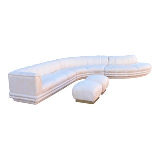 1970s Vintage Vladimir Kagan Serpentine Sofa For Sale