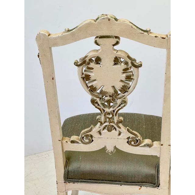 Italian Parcel Gilt Vanity Chair For Sale - Image 4 of 12