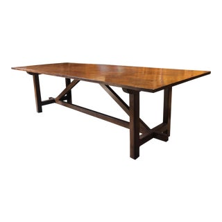 Hand Made Quarter Sawn Oak Table For Sale
