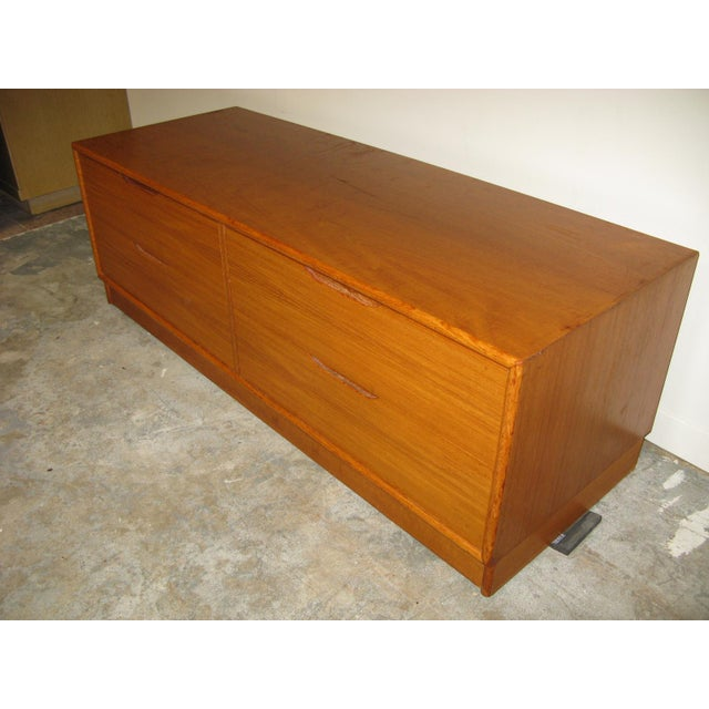 1970s Danish Teak Media Cabinet For Sale - Image 4 of 13