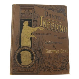 Illustrated by Gustave Dore' Late 19th Century Dante's Inferno New Edition Translated by Henry Cary For Sale