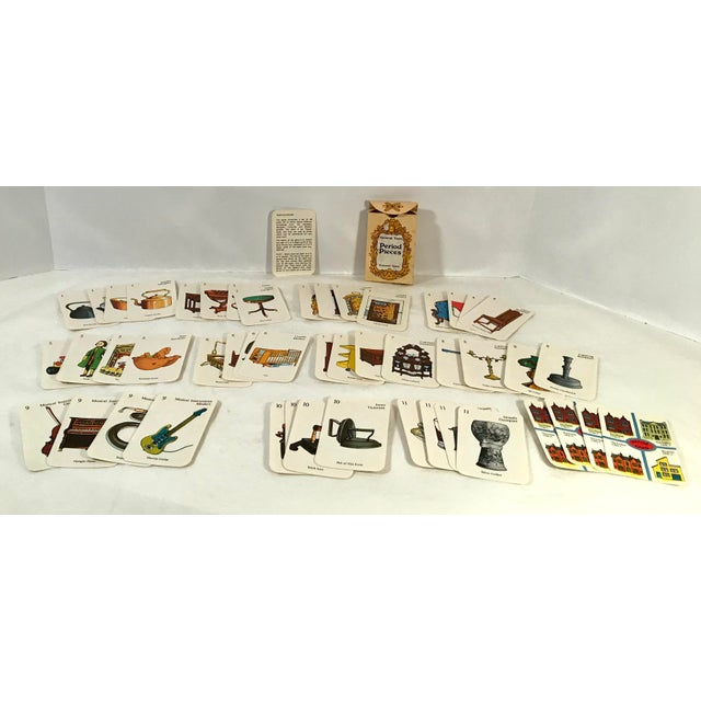 Paper Vintage Mid-Century English Antiques Card Game For Sale - Image 7 of 10