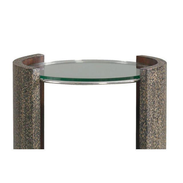 """The Gatsby Side Table Harkening back to the Gatsby era this """"cigarette style"""" accent table has shaped black turnsole sides..."""