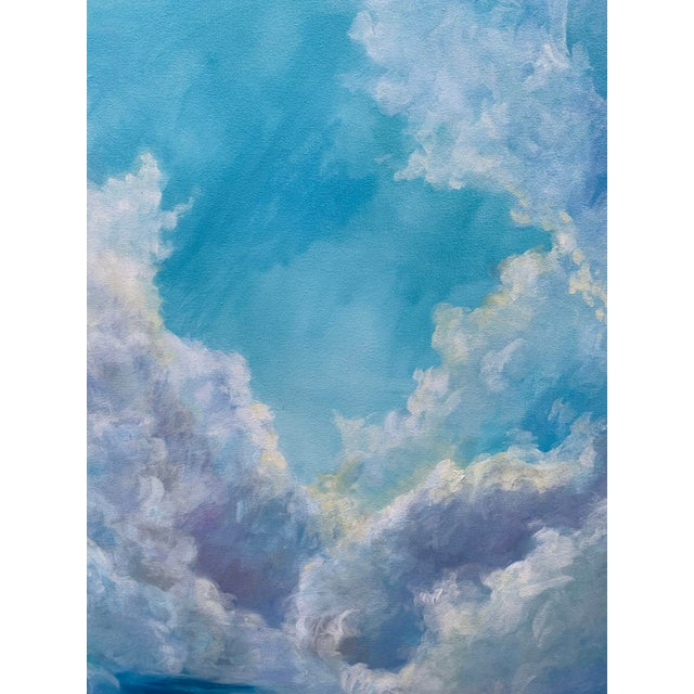 """Christine Elise Christine Elise """"The Meaning of a Day"""" Contemporary Sky and Clouds Oil Painting For Sale - Image 4 of 6"""