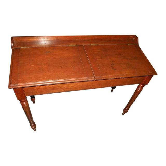 Antique Primitive Cherry Desk - Image 1 of 8