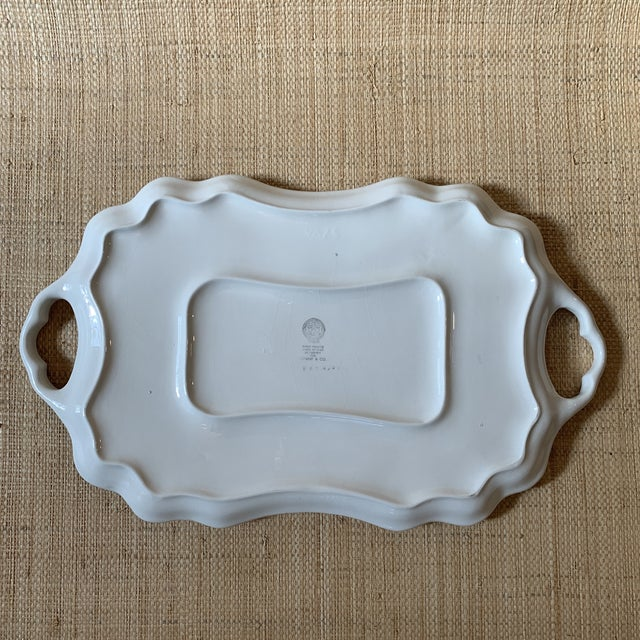 Tiffany and Co. Tiffany Serving Platter by Este Ceramiche Italy For Sale - Image 4 of 7
