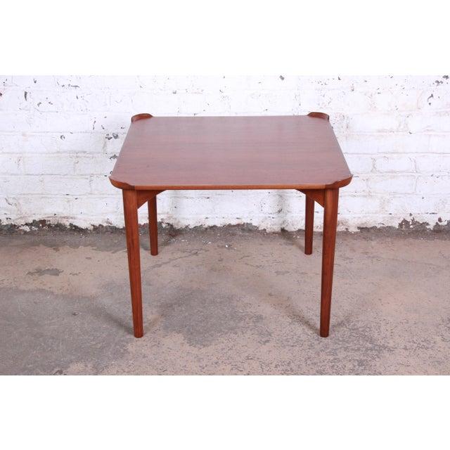 Contemporary Finn Juhl for Baker Furniture Teak Game Table For Sale - Image 3 of 9