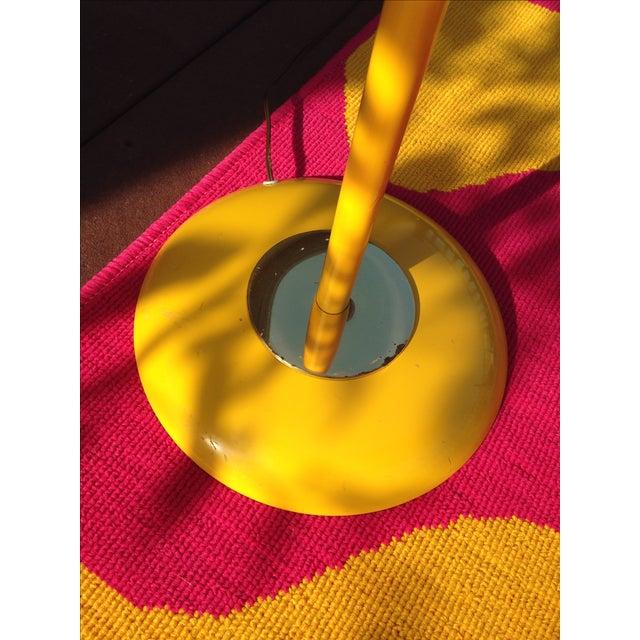 Yellow Mid Century Modern Bullet Floor Lamp - Image 7 of 11