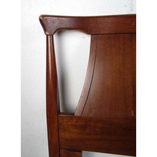 Wood Mid-Century Modern Headboard For Sale - Image 7 of 9
