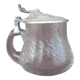 Glass & Pewter Tankard For Sale