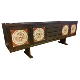 Skovby Mobler Danish Mid Century Tile Art Credenza Entertainment Console Cabinet For Sale