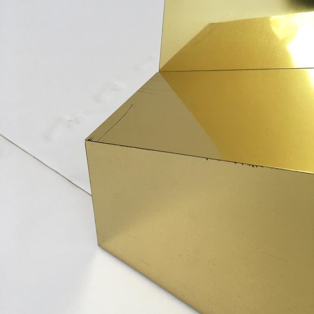 Modern Sculptural Brass Clad Coffee Table For Sale - Image 12 of 13