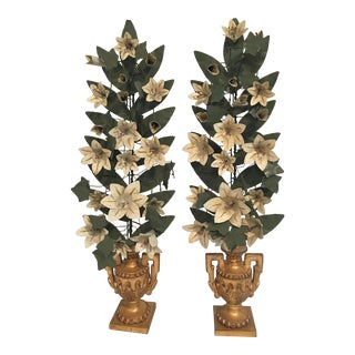 Chelsea House French Tole Flowers - a Pair For Sale