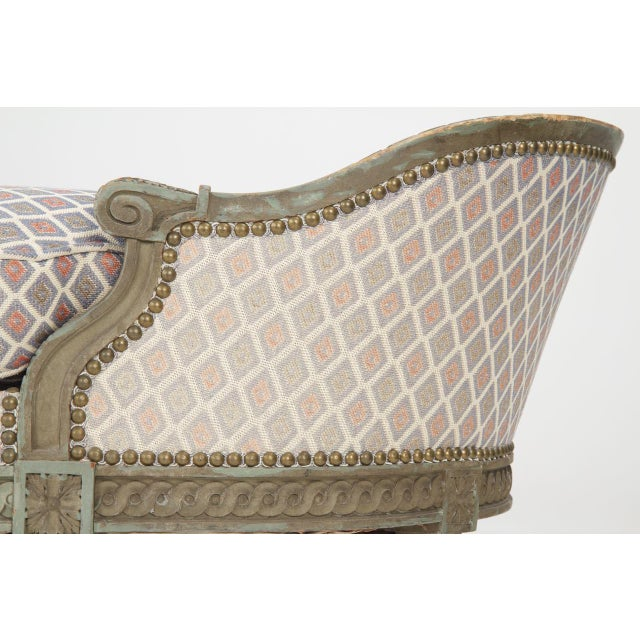 French Louis XVI Style Chaise Lounge, Circa 1900 - Image 9 of 11