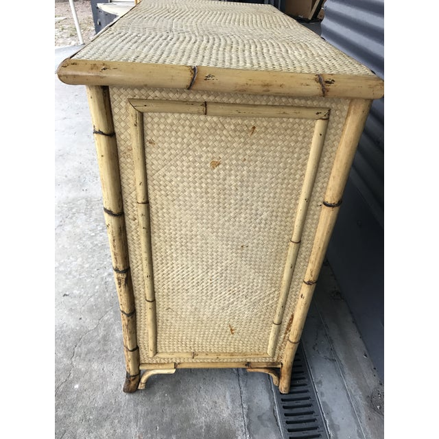 Bamboo Calif-asia Vintage Rattan Chest of Drawers For Sale - Image 7 of 11
