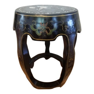 Mother of Pearl Inlaid Garden Seat