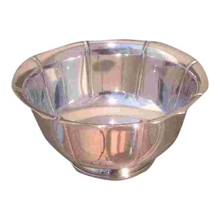 C. 1925 Sterling Bowl by M. Fred Hirsch Co. For Sale