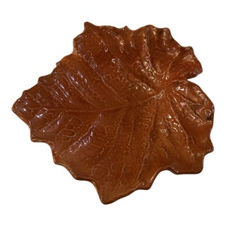 Vietri Foliage Leaves Bowl / Wall Hanging Plate For Sale