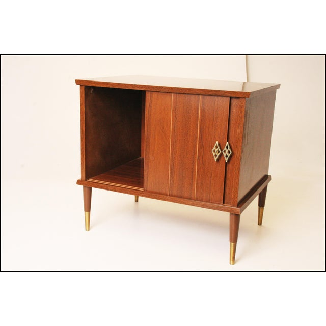 Mid-Century Modern Wood Record Cabinet - Image 7 of 11