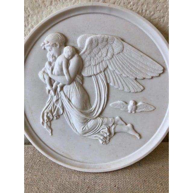 Ceramic Vintage Bing & Grøndahl Porcelain Angel Wall Plaques - a Pair For Sale - Image 7 of 9
