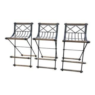 1960s Vintage Cleo Baldon for Terra Furniture Bar Stools- Set of 3 For Sale